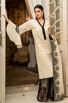 3 PC Unstitched Lawn Suit FE-222 - Gul Ahmed