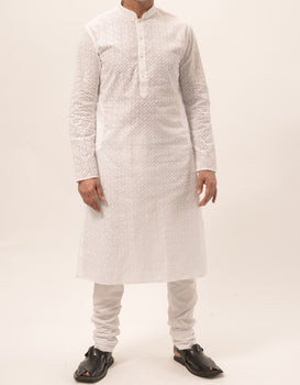 White Mens Chik Suit