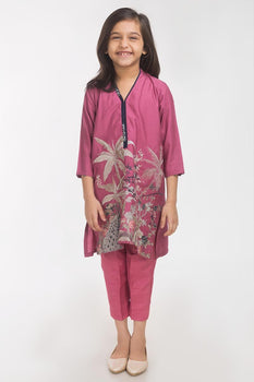 Pink 2 Piece Suit - Gul Ahmed Kids