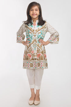 White 2 Piece Suit - Gul Ahmed Kids