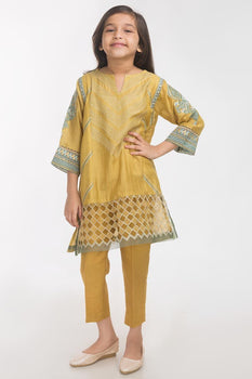 Mehndi 2 Piece Suit - Gul Ahmed Kids