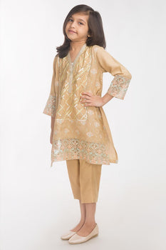 Beige 2 Piece Suit - Gul Ahmed Kids