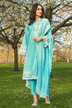 3 PC Unstitched Lawn Suit FE-195 - Gul Ahmed