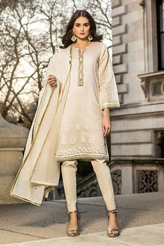 3 PC Unstitched Lawn Suit FE-198 - Gul Ahmed