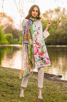 3 PC Unstitched Lawn Suit FE-219 - Gul Ahmed