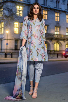 3 PC Unstitched Lawn Suit FE-218 - Gul Ahmed