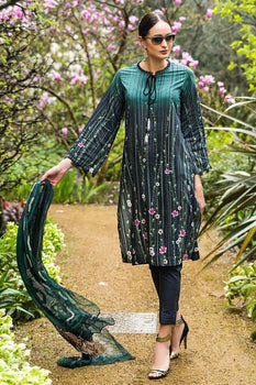 3 PC Unstitched Lawn Suit FE-217 - Gul Ahmed