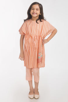 Peach Lawn 2 Piece Suit - Gul Ahmed Kids