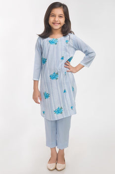 Blue Lawn 2 Piece Suit - Gul Ahmed Kids