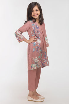 Dark Pink Lawn 2 Piece Suit - Gul Ahmed Kids