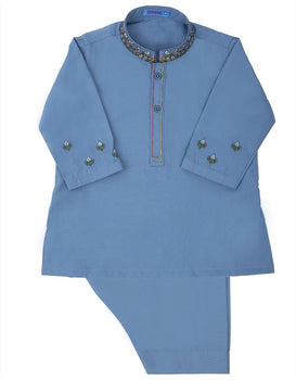 Blue Kameez Shalwar - J. Festive Infants