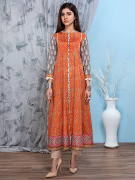 Printed Lawn Shirt (1 Piece) - Limelight Eid