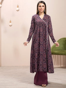 Maroon Lawn Shirt (1 Piece) - Limelight Eid