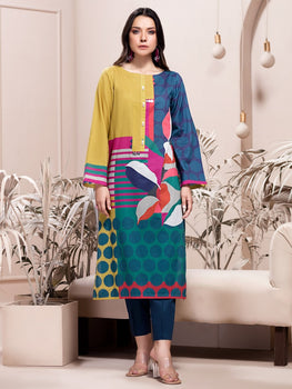 Yellow Lawn Shirt (1 Piece) - Limelight Eid