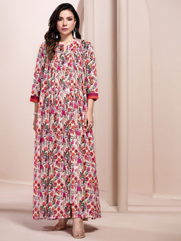 Pink Printed Lawn Shirt (1 Piece) - Limelight Eid