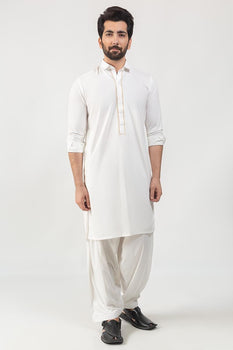 Off White Kameez Shalwar - Ideas  By Gul Ahmed