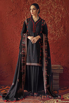 Black Karandi Suit - Gul Ahmed Winter