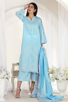 3 PC Unstitched Lawn Suit FE-193B - Gul Ahmed
