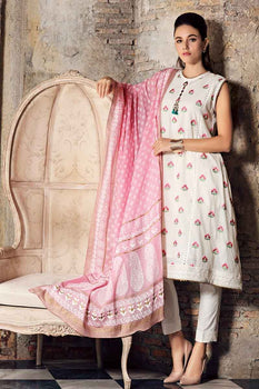 3 PC Unstitched Lawn Suit FE-228 - Gul Ahmed