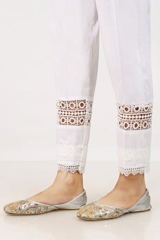 White Lace Trousers - Stonez