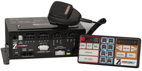 Code 3 Z3 Siren with Push Button Control Head and Amp