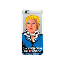 I Am Auntie-Trump And I Heart America - iPhone Case