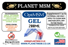 MSM Gel - OptiMSM 200ml