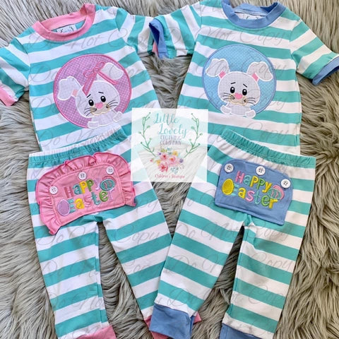 Easter Drop Seat Boys Pajamas