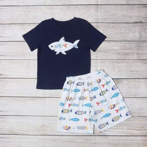 Shark & Fishes Boys Short Set