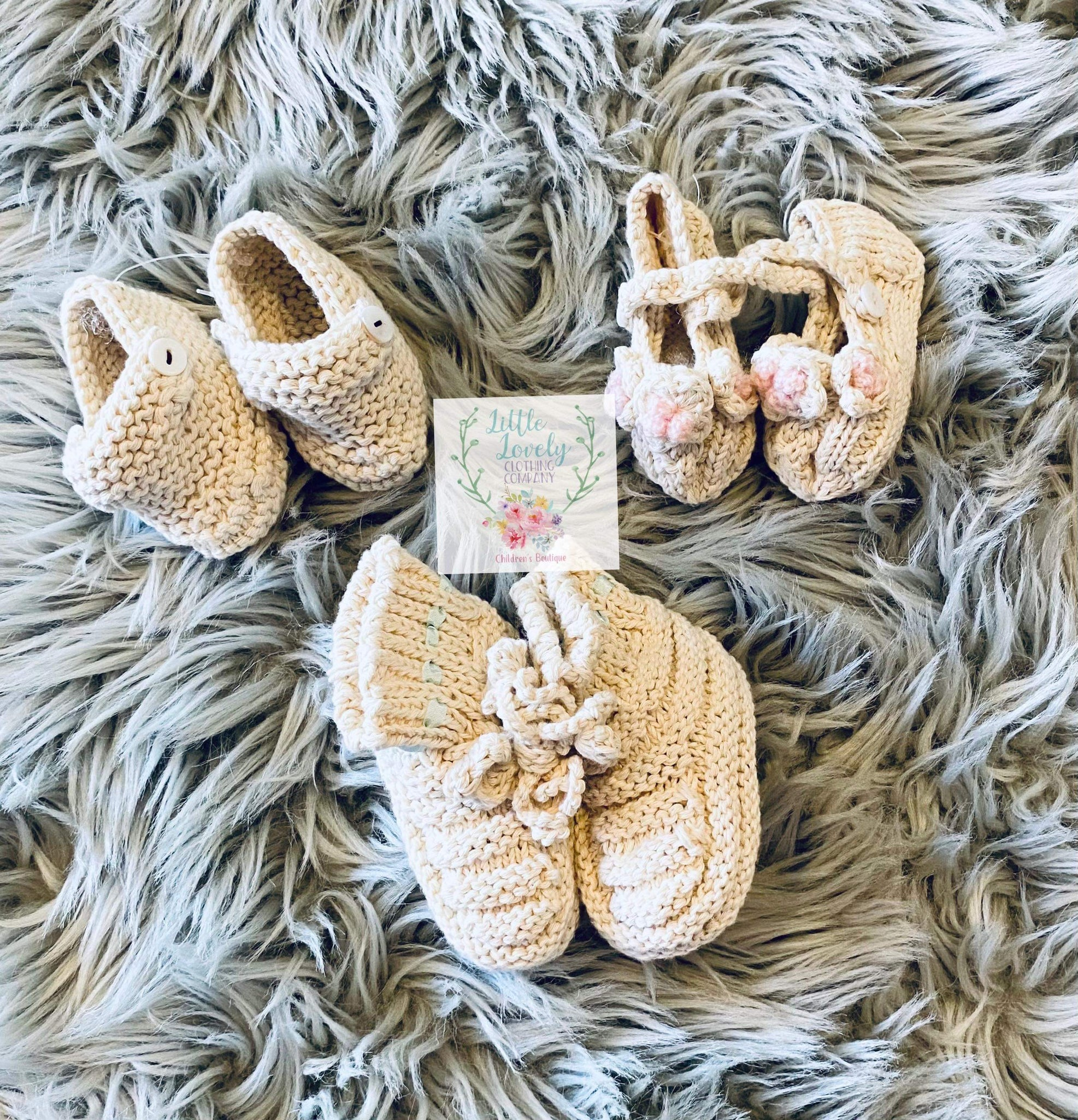 Heirloom Crochet Newborn Booties