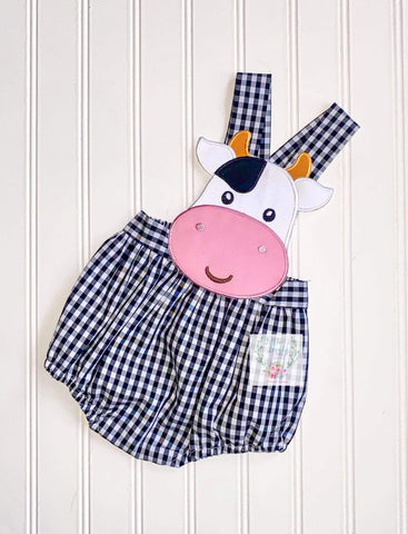 Cow Gingham Bubble