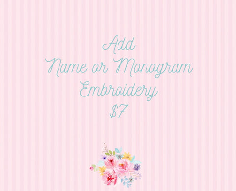 Monogram (add on)