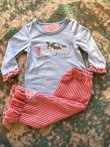 Farm Friends- Girl Pant Set