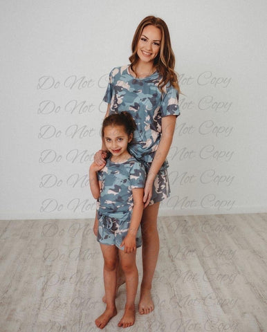 Mommy & Me Camo Kids PJs