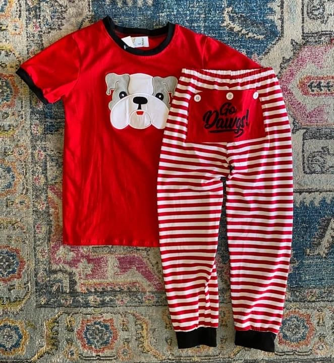 UGA Boy Drop Seat PJs