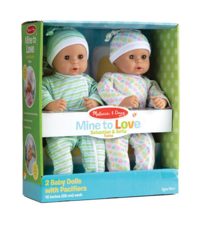 Mine to Love Twins Sebastian & Sofia Dolls