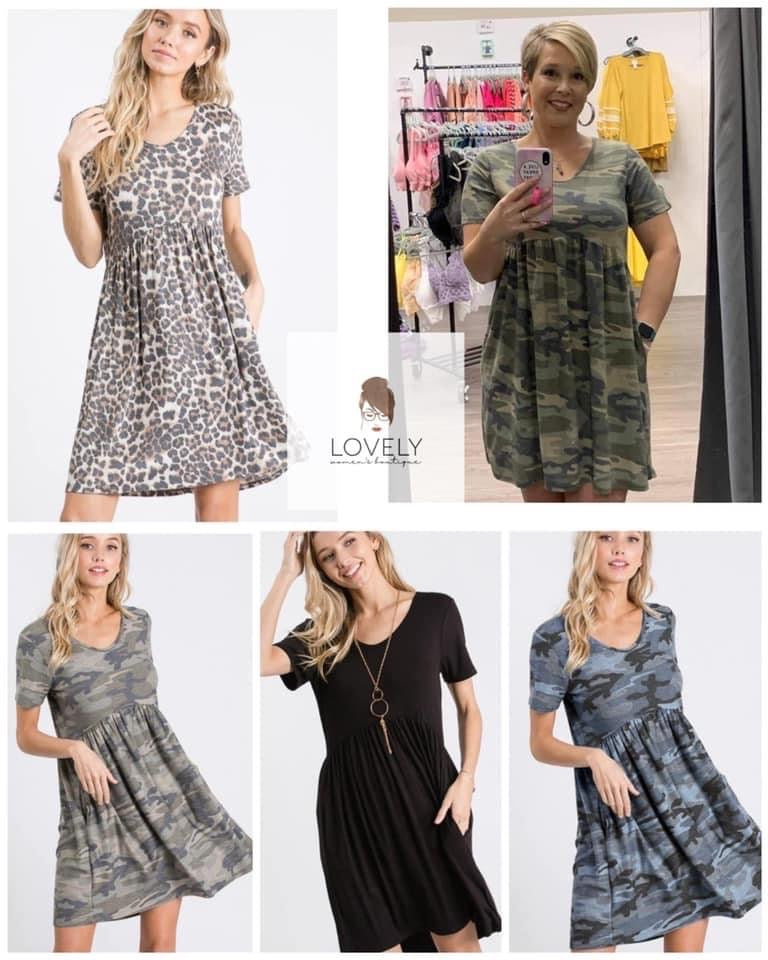 Ladies Pocket Dresses, ETA: 6-8 WEEKS