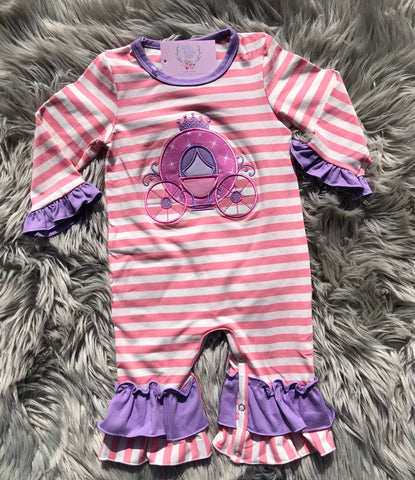 Princess Carriage- GIRL ROMPER
