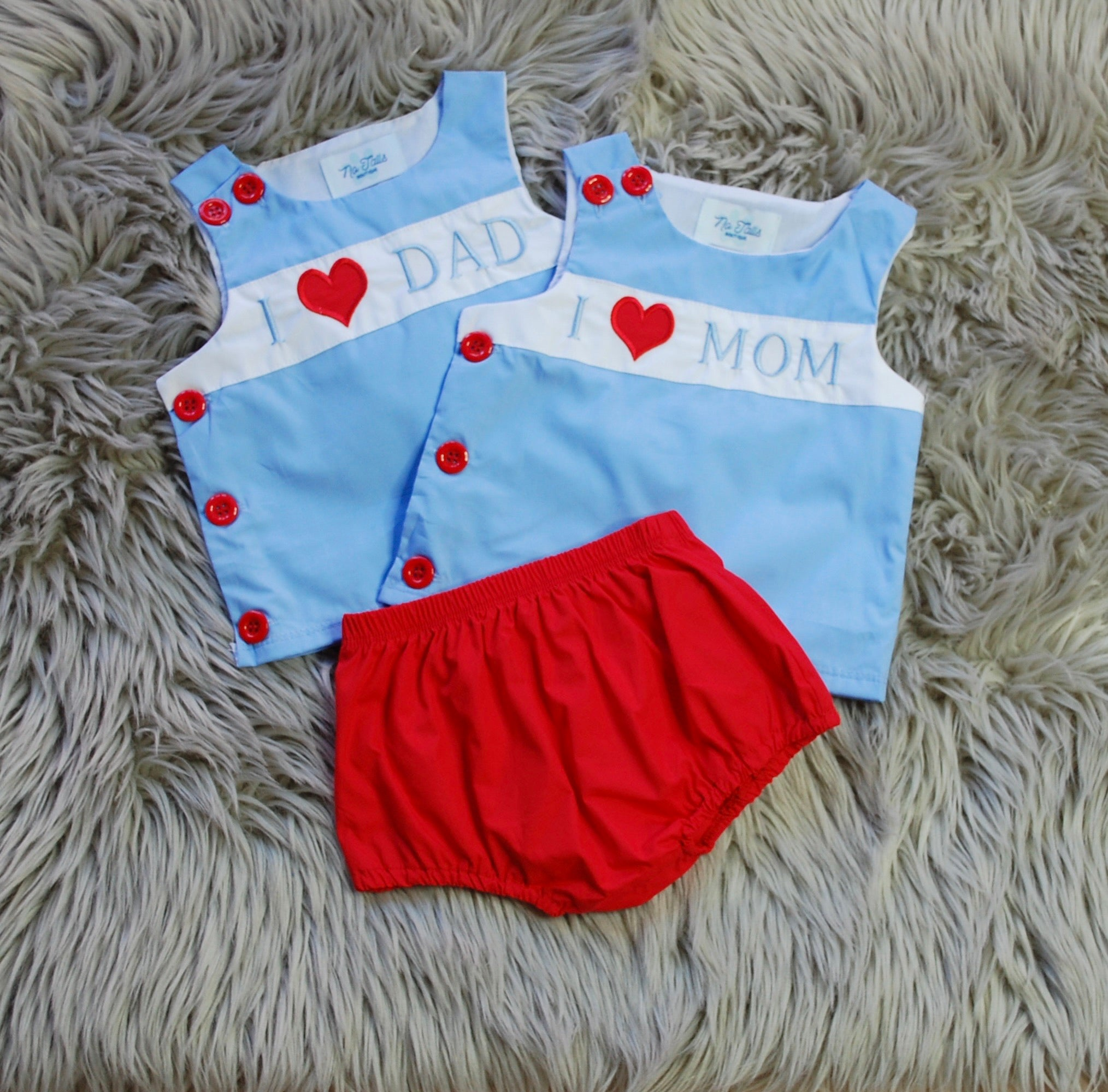 I Heart MOM/DAD Boys Diaper Set