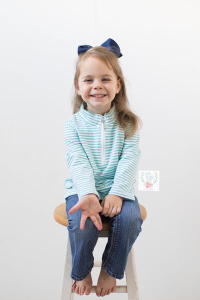 Light Blue Stripe Pullover