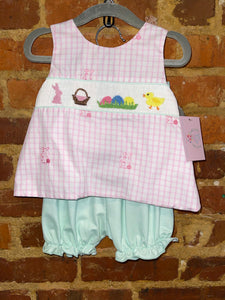 Bunny Swing Back Smocked Set