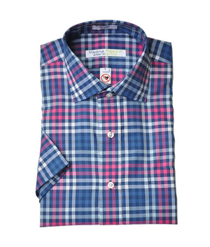 Miller Plaid Short Sleeve Shirt with Magnetic Closures