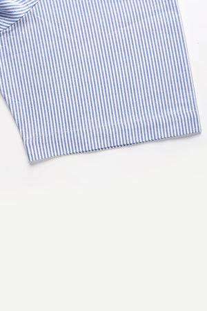 NEW!! University Oxford Stripe Short Sleeve Shirt with Magnetic Closures