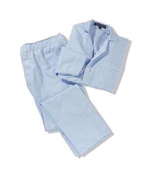 Light Blue Oxford Pajama Pant with Magnetic Closures