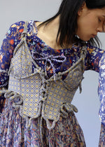 Knotted Corset In Liberty London Aidah Tana Lawn Fabric.