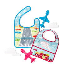 Foodie Flight Airplane Bib & Spoon Set