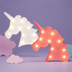 Unicorn Marquee LED Light (Pink or White)