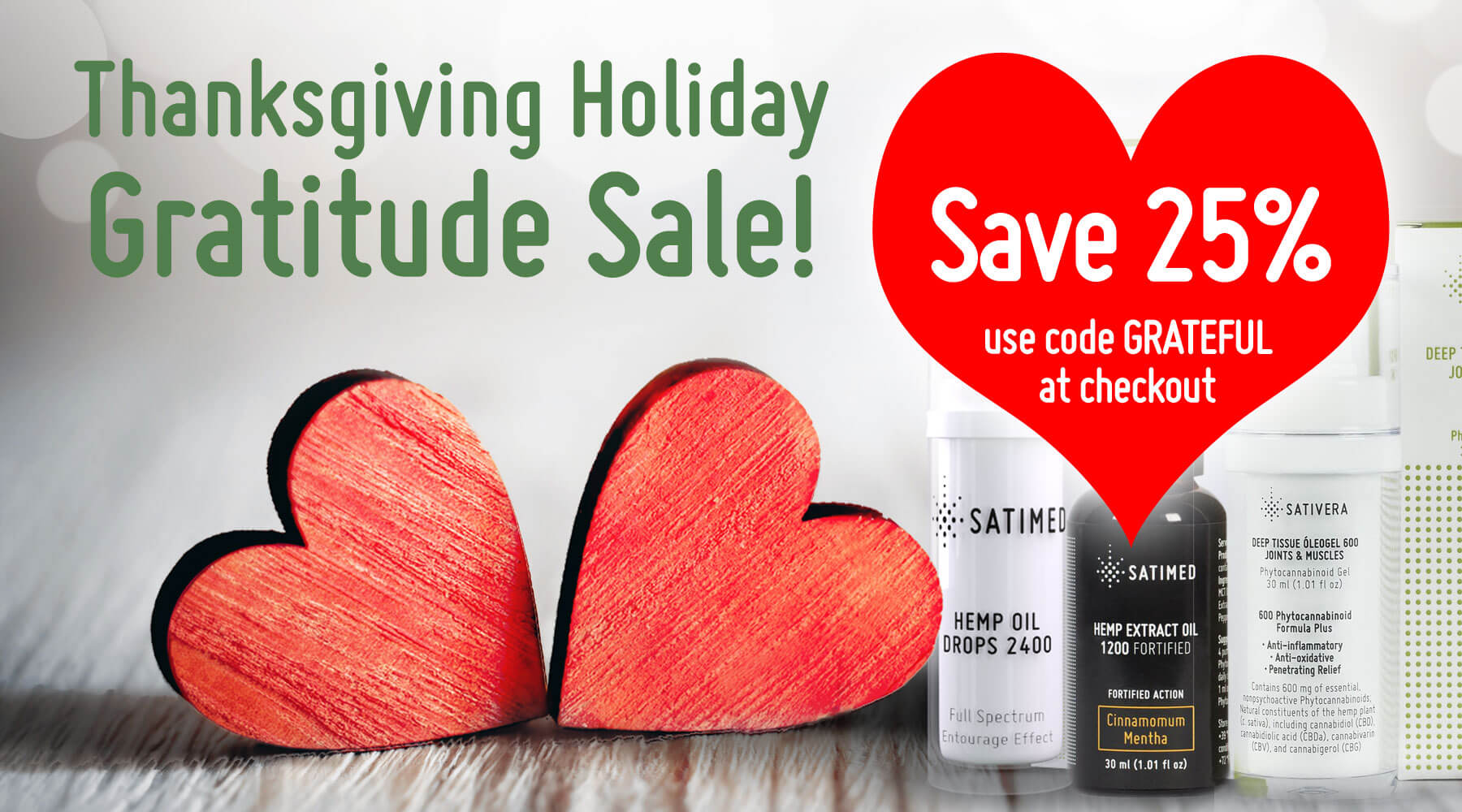 Save 25% on CBD Oil Products