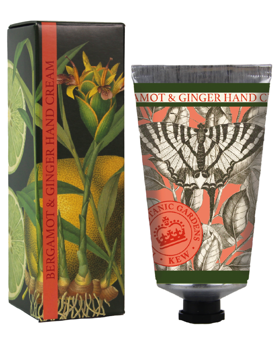 Kew Gardens Botanical -  Bergamot & Ginger - Luxury Hand Cream