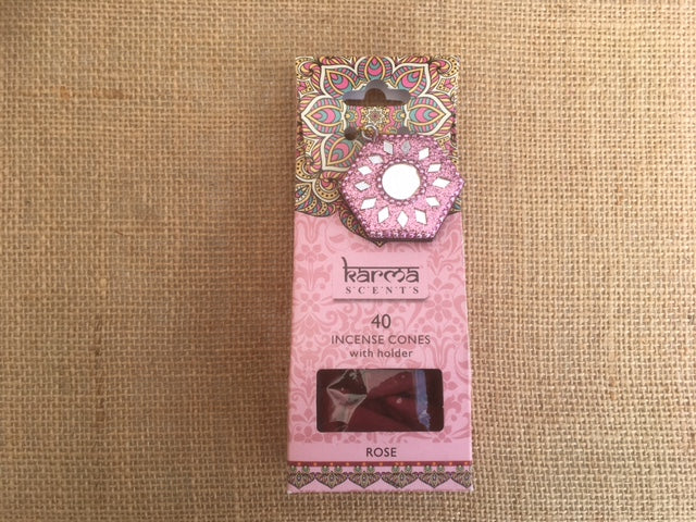Karma Incense cones - Rose fragrance